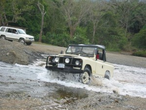 Land rover in Turrubari, Costa Rica